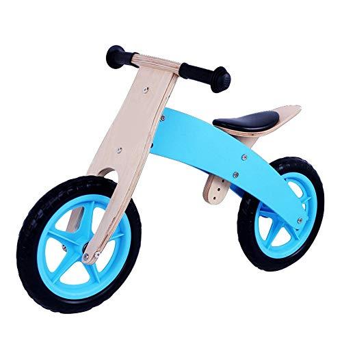 YumEIGE Loopfiets voor kinderen, milieuvriendelijk, eva-fiets, eerste fiets, kinderfiets, 2-6 jaar oud kindergeschenk blauw