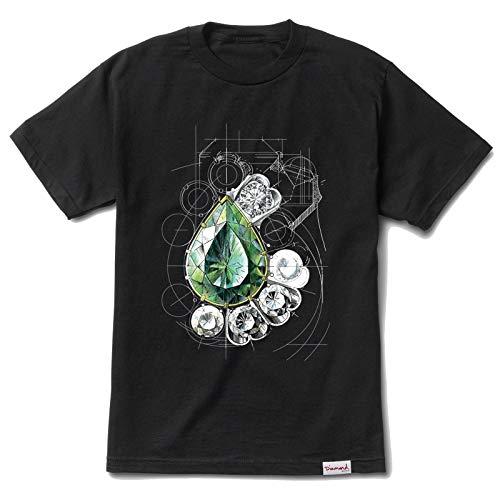 Diamond Supply Co. Men's Diamond Ratio Short Sleeve T Shirt Black XL