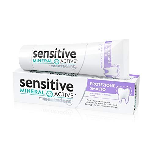 Mentadent Dentifricio Sensitive Mineral Active Protezione Smalto di Mentadent, Specializzato per Curare la Sensibilità e lo Smalto Dentale Danneggiato, 75 ml