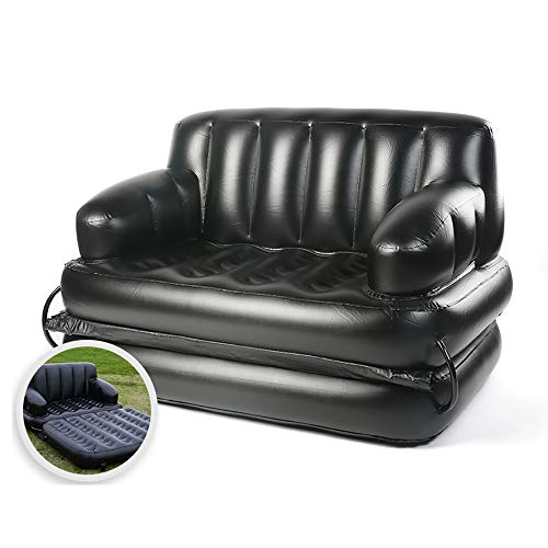 AUNLPB Tragbare Luft aufblasbare Hocker Stuhl Sofa, Ausziehbare Stuhl aufblasbares Bett, aufblasbare Sessel mit Blow Up Chaise Lounge Air Faule Sofa Set Indoor Outdoor