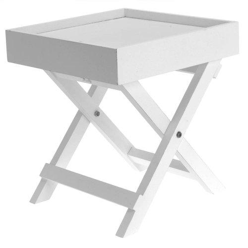 Koopman International b.v 1 X Kleiner Beistelltisch aus Holz in weiß