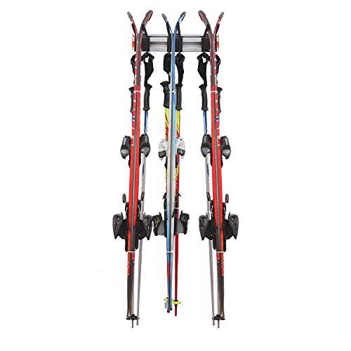 Homeon Wheels Ski-Aufbewahrungsregal, Premium-Aluminium-Werkzeug-Organizer, Wandhalterung, Ski-Wandregal für Langlaufski, Kinder-Snowboard und Skistöcke, hält bis zu 81,6 kg