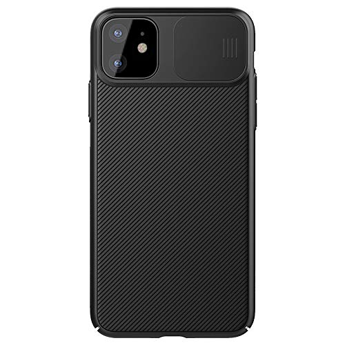 Vitodo Slide Cover Camera Lens Protective Case Compatible with iPhone 11 Pro Max (2019) 6.5 inch, Both Sides Non-Slip Design Anti-Scratch Full Body Protection Case (Black, for iPhone 11 Pro Max)