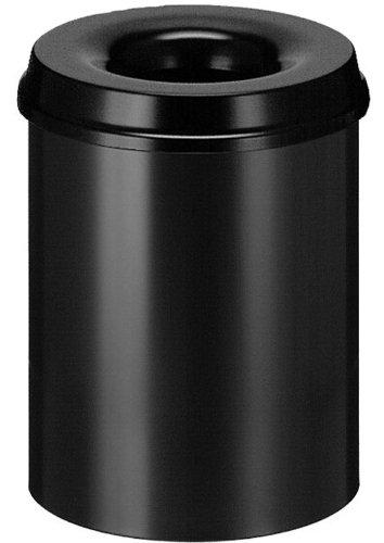 Helit Metallpapierkorb mit Löschkopf, schwarz Inhalt 15 Liter