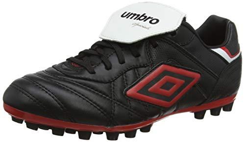 Umbro Speciali Eternal Team, Botas de fútbol para Hombre, Negro (Black/Vermillion/White A80), 42 2/3 EU