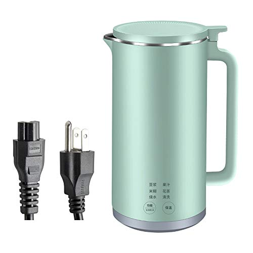 Mixue Mini soymilk Machine Small juicer Smart soymilk Machine Cooking Machine Household Insulation Automatic Filter-Free Mixer Juice for 1 Person (Green,350ml)