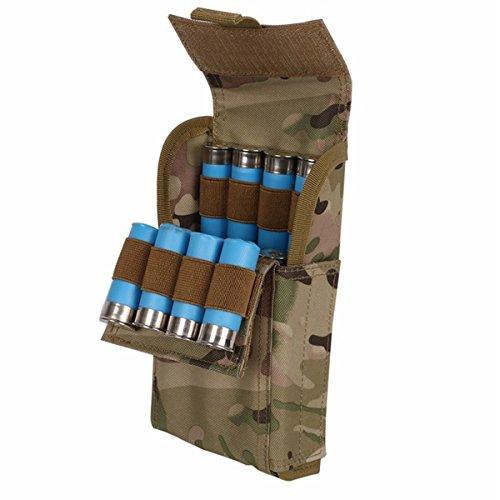 ECYC Imperméable Anti-Corrosion 12G Bullets Package Porte-coquilles de Chasse Sacs Ballet portatifs à 25 Trous, Couleur CP