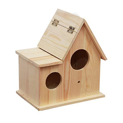 Cage à Oiseaux en nid d'oiseau en Bois Cage à Oiseaux en Plein air dans Une Niche en Plein air