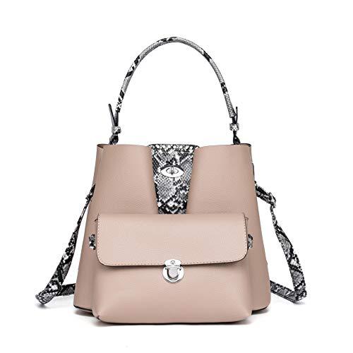 Ms mode lederen handtas, grote capaciteit moeder schoudertas, handtas, messenger bag + clutch portemonnee, figuurpakket