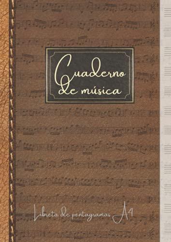 Cuaderno de música - Libreta de pentagramas A4: Papel pentagramado para escribir composiciones musicales. Pauta musical Nº3
