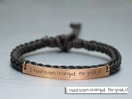 Thin Gold Personalized Cuff Bracelet Handwriting Jewelry Personalized Jewelry Personalized Cuff  Bracelet Handwriting Bracelet