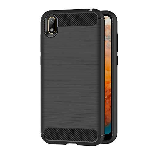 AICEK Compatible Huawei Y5 2019 / Honor 8S Hülle, Schwarz Silikon Handyhülle für Huawei Y5 2019 Schutzhülle Karbon Optik Soft Hülle (5,71 Zoll)