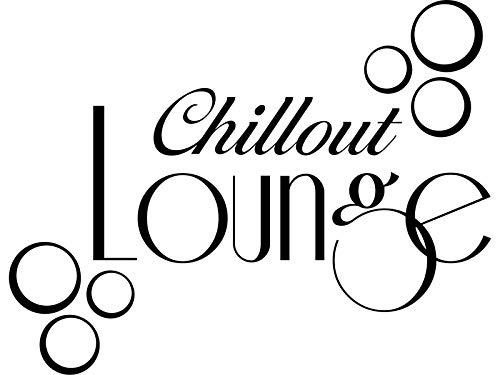 Wandtattoo-bilder® Wandtattoo Chillout Lounge Wandsticker Wandaufkleber Wanddeko Chillen Relaxen Farbe Dunkelgrau, Größe 40x31