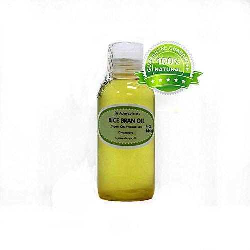 Rice Bran OIL Organic 100% Pure Cold Pressed 4 Oz