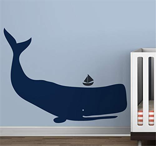 stickers muraux bebe juju et compagnie Mur de baleines de dessin animé moderne bébé chambre d'enfant
