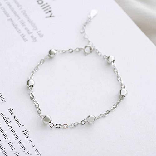Katylen S925 Sterling Silver 5Mm Bead Bracelet Bracelet Bracelet Student Goods, a
