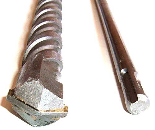 Spar-Set: 3 Stück Hammerbohrer Länge 1000 mm extra lang, SDS plus. 100 cm 1 Meter lang. Durchmesser 12, 16, 24 mm. Hartmetall Steinbohrer Betonbohrer Mauerbohrer Mauer Durchbruchbohrer für Bohrhammer