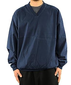 Harvard Square Pullover V-Neck Microfiber Windshirt - Medium Navy