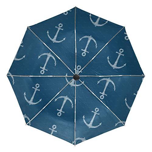 AOTISO Paraguas de Viaje Compacto con Apertura automática y Cierre con Anclajes para Azulejos