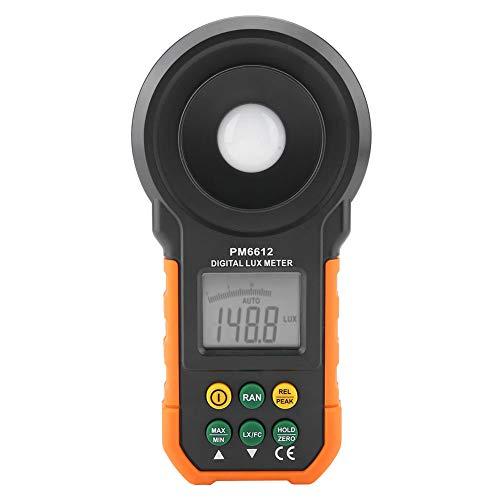PM6612 PM6612L 200.000Lux Fotometro digitale ad alta precisione Lux Light Meter Luxmeter LCD Palmare per abitazioni Magazzini per uffici Piantagioni Stadi di palcoscenico (Batteria NON i(PM6612)