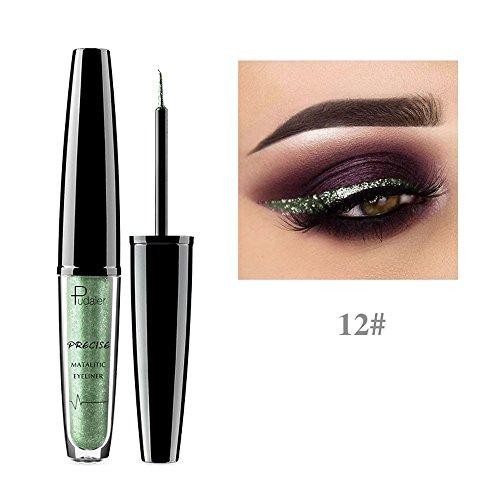 Syeytx Metallic Shiny Smoky Eyes Lidschatten Wasserdichter flüssiger Eyeliner mit glänzender Perle