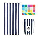 THE ORIGINAL SAND FREE BEACH TOWEL for travel. Dries 3 times faster than a normal cotton towel. COMPACT quick dry beach towel, includes travel pouch. QUICK DRY MATERIAL: Feels different, dries great. You're going to love the smooth, soft feel and the...