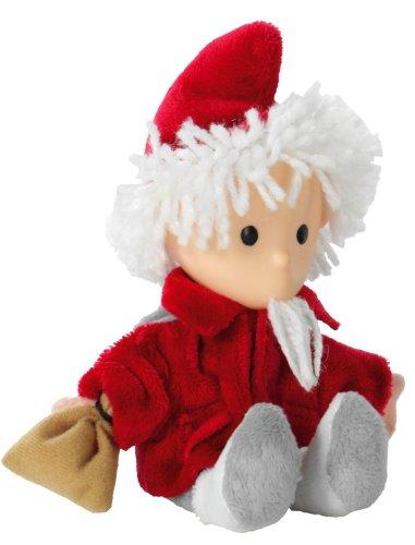 Heunec 649361 - Kleine Sandmann-Puppe mit Vinylkopf und Umhang, 15 cm
