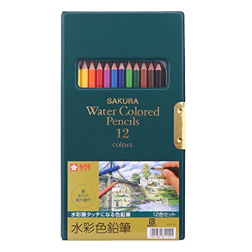 Sakura Color 12 Color SKEPY12 Watercolor Pencil (Japan Import)