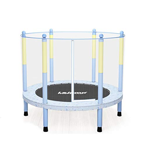 M-YN Trampoline with Net Enclosure – Stable, Strong Kids and Adult Trampoline – Outdoor Trampoline for Teens and Adults – Reinforced Kids Trampoline (Color : Blue (1.4M))