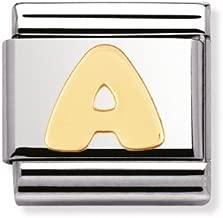 Composable Classic acciaio oro 18k Lettera A - Cod. Art.: 030101_01