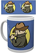 1art1 Set: Fallout, Mysterious Stranger Photo Coffee Mug (4x3 inches) and 1x Surprise Sticker