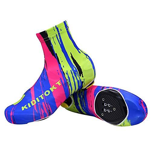 1 par de protectores para zapatos de ciclismo, cortavientos, impermeables, para ciclismo, senderismo, deportes de invierno, camping multicolor XL