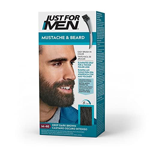 Just For Men Mustache & Beard Brush-In Color Gel, Deep Dark Brown (Packaging May Vary)