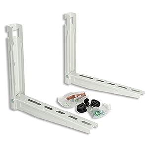 La ventilación epss420-y epss420Soporte universal de pared para unidad exterior Aire Acondicionado 420x 400mm, blanco