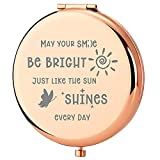 Inspirational Birthday Gifts for Women | Rose Gold Compact Mirror Engraved Best Wishes for Women Gifts | Best Friend Birthday Gifts for Her | Unique Gifts for Women, Friends, Mom, Sister