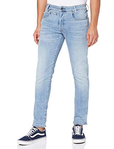 G-STAR RAW Herren Jeans D-staq 5-pocket Slim, Blau (Lt Indigo Aged 8968-8436), 33W / 32L