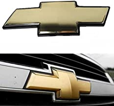 Cardiytools Gold Front Grill Grille Bowtie Emblem for Chevy 2007-2014 Suburban Tahoe Avalanche