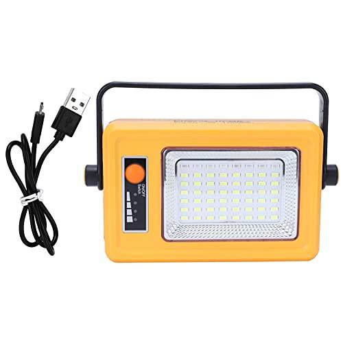Luz de inundación de trabajo solar portátil recargable 3000LM LED lámpara de linterna de emergencia para pesca al aire libre Reparación de picnic de emergencia