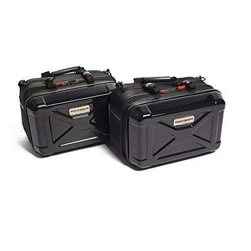 Universal-Motorrad-Koffer, Hartschale, Seitenkoffer, Hartschalenkoffer, für Motorrad, einfach zu installieren und zu bewegen (schwarz)