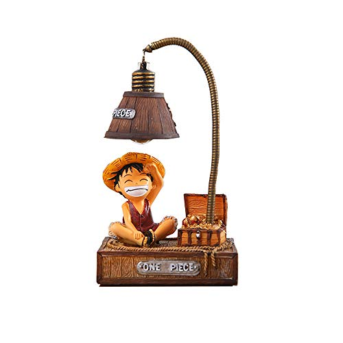 Kimkoala Anime One Piece Luffy Figures, Cute Cartoon Anime One Piece Luffy Figure with Night Lamp Light Action Figure Toys for Children Gift for Home Garden Decoration (Luffy)