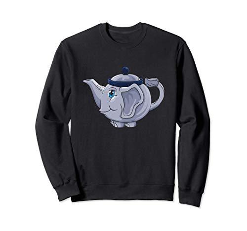 Lustiges Elefant Tee Trinken Teekanne Sweatshirt