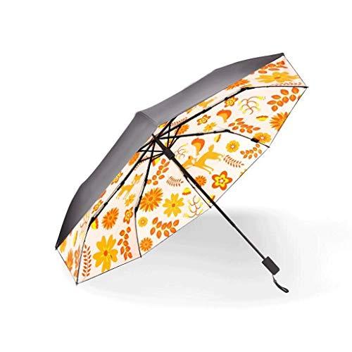 SBSNH El Paraguas Plegable De Las Mujeres, El Paraguas Incorporado Incorporado De Las Mujeres, Paraguas Triple Manual