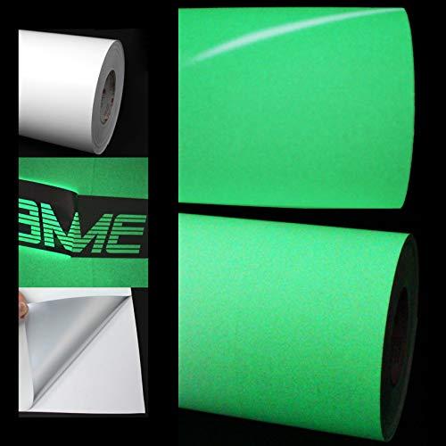 (EUR 64,74 / m²) Plotterfolie Nachtleuchtend (Glow in The Dark) Auto Effekt Folie fluoreszierend Plottfolie (61 cm)