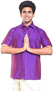 THANGAMAGAN Mens Shirt D Orchid Size 44