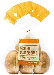 Swissbake Fresh Sesame Burger Buns, 75g (Pack of 4)