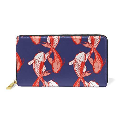 XiangHeFu portefeuille vrouwen portemonnee vis plezier patroon clutch tas rits leder