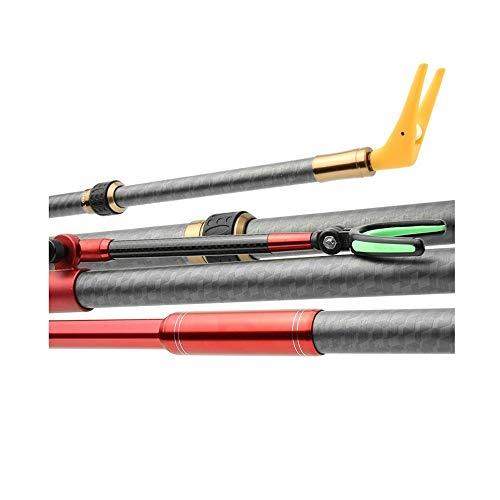 DSAKOX Carbon-Faser-Fern Angelrute ist beweglich und faltbar, hohe Elastizität, Anti-Blockier-System, Stoßdämpfende Fern Angelrute (Size : 300cm)