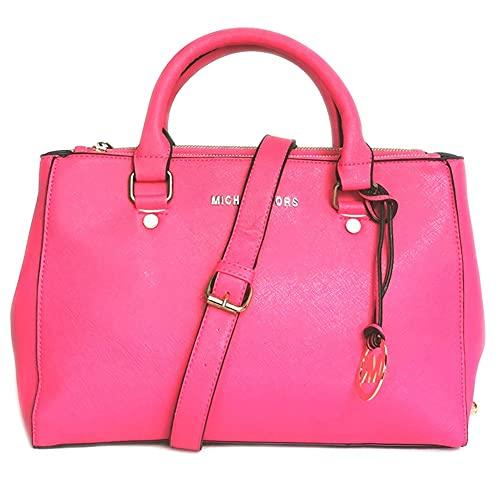 Bolsos y bolsos para mujer con asa superior, bolso de hombro para mujer, bolso de mensajero para mujer, color rosa y rojo