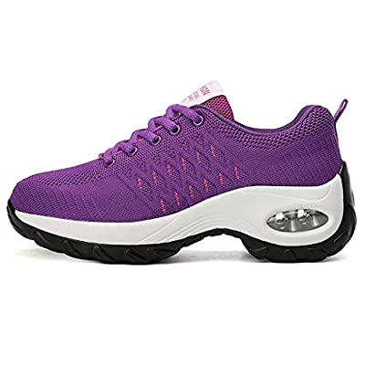 SamenoSt. Chunky Sneakers Slip On Standing All Day Work Shoes for Women Platform Air Cushion Lightweight Walking Shoes