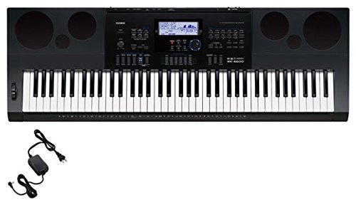 Casio WK-6600 76-Key Workstation Keyboard with Power Supply